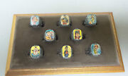 Complete Set/8 Nabisco Howdy Doody Flasher / Flicker Rings Excellent Condition