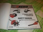 Echo Grass Weed Trimmer Brushcutter And Clearing Saw Safety Manual