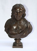 Magnificent 19c French Barbedienne Bronze Statue Signed Foundry Hallmark