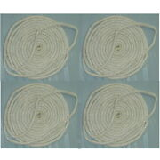 4 Pack Of 3/4 Inch X 25 Ft White Double Braid Nylon Mooring And Docking Lines