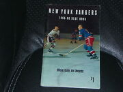 1965-66 New York Rangers Yearbook Media Guide Harry Howell Don Marshall Cover