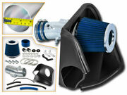 Bcp Blue For 2007-2012 Altima V6 3.5l Heat Shield Cold Air Intake + Filter