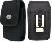 Large Rugged Canvas Case Holster Fits W/ Lifeproof On For Motorola Phones