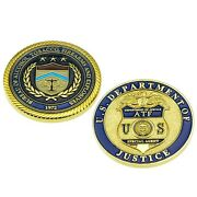 Atf Justice Department Doj Federal Special Agent Badge Police Challenge Coin