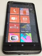 Htc Hd 7 - 16gb - Black T-mobile Windows Phone - Cracked Glass Fair Condition