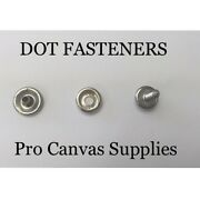 Dot Stainless Steel Snaps Cap, Socket, And 10 5/8 Screw Stud 200 Sets