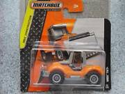 Matchbox 2014 025/120 Mbx Tkt+ Orange Tractor Snow Plow Mbx Construction Case C
