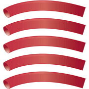 5 Pack Red 1/2 Inch X 48 Inch 31 Heat Shrink Tubing With Sealant For Boats