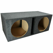 Car Audio Dual 12 Vented Subwoofer Stereo Sub Box Ported Enclosure Speaker