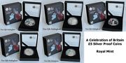 Celebration Of Britain Andpound5 Silver Proof Coins - London 2012 Olympics - Royal Mint