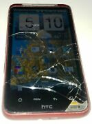Htc Inspire 4g - 4gb - Red Atandt Smartphone Cracked Glass