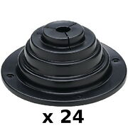 24 Pack 4 Inch Motorwell Rigging And Cable Boot For Boats - Rigging Hole Cover