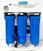 Ro Reverse Osmosis Water Filter 5 Stage System 150 Gpd-booster Pump And Psi Gauge