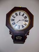 Geo. O. Mulford Cream Mustard Advertising Clock New Haven 1860 Rosewood Serviced