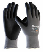 12x Pair Atg Maxiflex Ultimate Nitrile Breathable Light Work Grip Gloves42-874