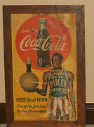 Early 1950and039s Reece Goose Tatum Coca Cola Paper Or Thin Cardboard Sign