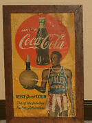 Early 1950's Reece Goose Tatum, Coca Cola Paper Or Thin Cardboard Sign