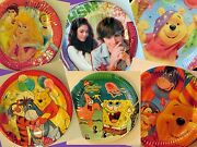 Birthday Party Round Large Small Paper Plates Disney Kids Children Tableware