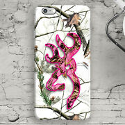Deer Head Camo Pink Snow White Iphone 44s55s5c66s6+6s+ Case Country Cool