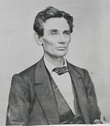 1860 Abraham Lincoln Beardless Photo By Famous Photographer William Shaw