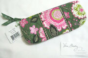 Vera Bradley Olivia Pink Brush And Pencil Cosmetic Jewelry Makeup 4 Purse Tote Nwt