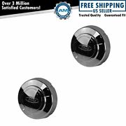 Oem F5tz1130h Chrome Aluminum Wheel Center Cap Kit Pair Set For Ford Pickup Van