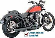 Vance And Hines Black Pro-pipe 2-1 2 Into 1 Exhaust Harley 2012-2017 Softail Fx/fl