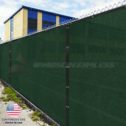 4and039 5and039 6and039 8and039 Feet Tall Green Privacy Fence Windscreen Shade Mesh Fabric Shade Net
