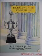1962 R.s. Owens And Co. Sports Trophies Trophy Plaque Award Medal Catalog Vintage