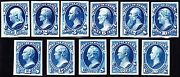 Us O57tc4-o67tc4 State Dept Official Atl Trial Color Proof In Blue Vf-xf Scv425