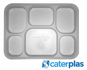 Disposable Plastic Punjabi Thali 6 Section Food Trays Wedding Party Catering Bbq