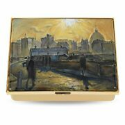 Halcyon Days - Enamel Trinket Box - Le Cyril Mann And039st. Pauland039s From Moor Laneand039