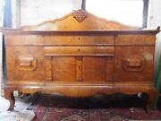 A Stunning Exceptional High Quality Antique 1930and039s Biedermeier Walnut Sideboard