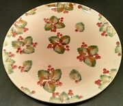Nicola Fasano Ceramic Plate Platter Grottaglie Italy William Sonoma Berry Berrie