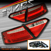 Audi A5 S5 Rs5 07-09 Clear Red 3d Bar Led Tail Lights - For Non Led Stock Lights