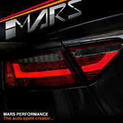 Audi A5 S5 Rs5 07-09 Smoked Red 3d Bar Led Tail Lights -for Non Led Stock Lights