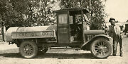 Antique Oil Truck Deep Rock Gas Sign Rooster Man Old 1925 Il License Photos
