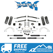 Fabtech 3 Trail System Stealth Shocks For And03907-and03918 Jeep Wrangler Jku 4dr K4055m