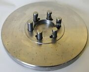 """12-1/2"""" Lathe Chuck Adapter Plate D1-5 Spindle Mount Taper 1-1/8"""" Thickness Usa"""