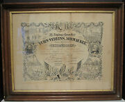 Antique 1876 German American Turners Folk Art Litho Abe Lincoln Supporters Wi