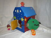 Handmade Colorful Interactive Toy House With Doors And Locks