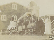 Antique American Toy Train Carnival Circus Miniature Steam Caboose Wow Photo