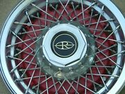 1977-78 Buick Riviera Wire Wheel Covers, Set 4, Red, Nos