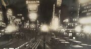 Antique1923 Times Square Neon Signs Coca Cola Macyand039s Loews Fisk Tires Ny Photo