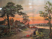 Antique Victorian Or Edwardian Lithograph George Washington Birthplace Wakefield