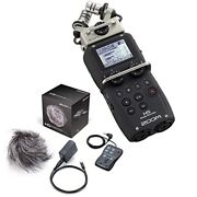 Zoom H5 Handy Portable Recorder And Aph5 Accessories Kit W/ Windscreen Remote...
