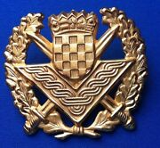 Croatia Army - Large Officers Gilded Hat Cap Officerand039s Cap Hat Badge