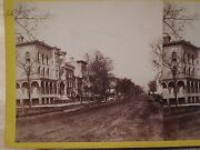 Antique Michigan Ave Chicago Stereoview Photo Fassett Photographer Of Lincoln