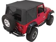 Rampage Complete Soft Top W/ Frame And Tint 97-06 Jeep Wrangler Tj 68835 Black