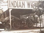 Antique Early Indian Wigwam Motorcycle Dealership In Tank Handlebars Rppc Photo